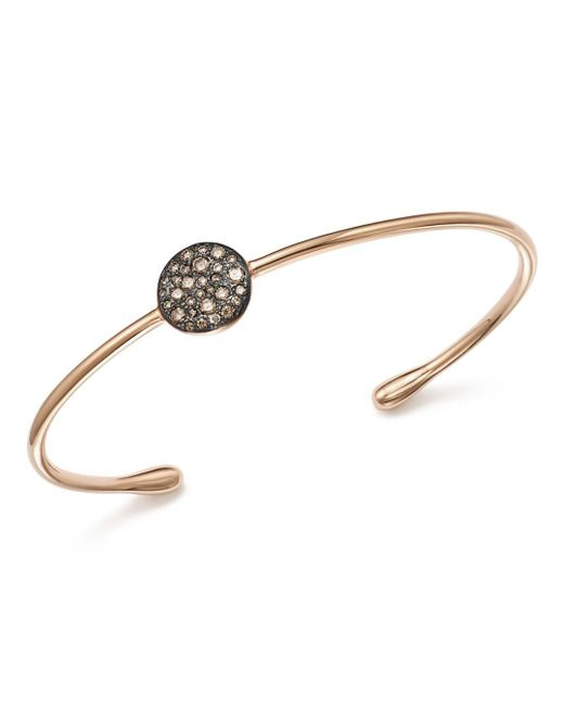 Pomellato - Sabbia Cuff Bracelet With Brown Diamonds In 18k Rose Gold - Lyst
