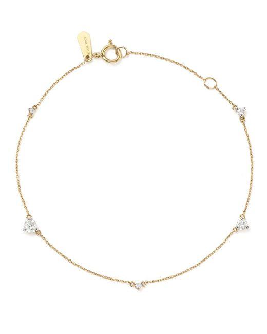 Adina Reyter - Metallic 14k Yellow Gold Amigos Five Diamond Station Bracelet - Lyst