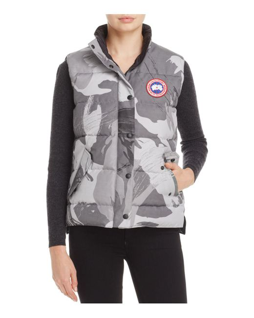 Canada Goose | Gray Freestyle Camo Down Vest | Lyst