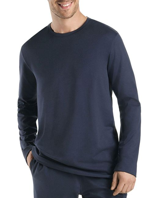 Hanro - Black Night And Day Long Sleeve Shirt for Men - Lyst