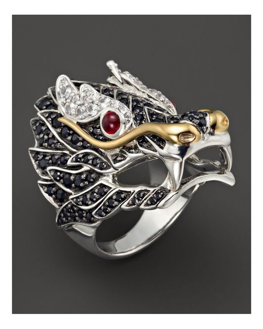 John Hardy | Multicolor Sterling Silver & 18k Gold Naga Lava Dragon Ring | Lyst