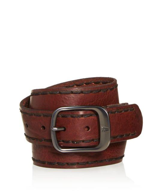 Frye Brown Men's Stitched - Edge Leather Belt for men