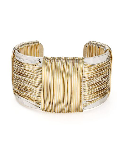 Robert Lee Morris | Metallic Two-tone Wire Cuff | Lyst