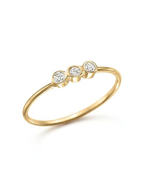 Zoe Chicco - Metallic 14k Yellow Gold And Diamond Bezel-set Ring - Lyst