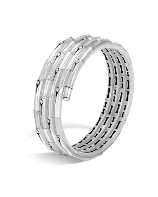 John Hardy - Metallic Sterling Silver Bamboo Four-coil Bracelet - Lyst