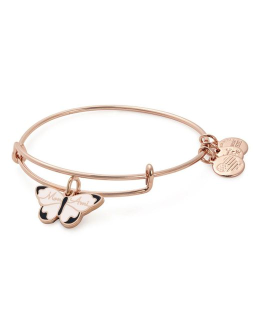 ALEX AND ANI - Metallic Mon Ami Butterfly Expandable Wire Bangle - Lyst