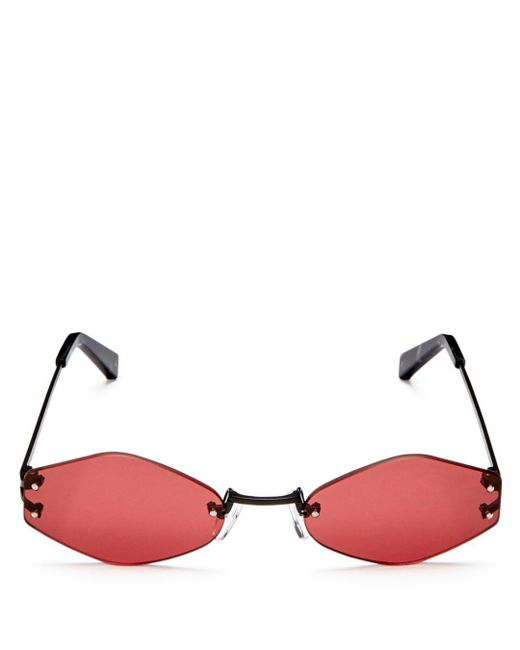 Kendall + Kylie - Multicolor Kendall And Kylie Women's Kye Rimless Oval Sunglasses, 51mm - Lyst
