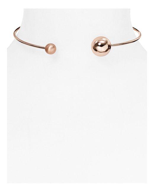 Rebecca Minkoff | Metallic Collar Necklace | Lyst