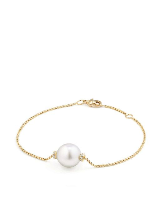 David Yurman | Metallic Solari Single Station Bracelet In 18k Gold With Diamonds And South Sea Cultured Pearl | Lyst
