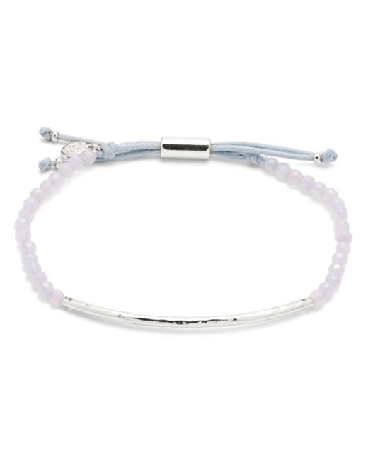 Gorjana - Metallic Silver-tone Stone Beaded Bracelet - Lyst