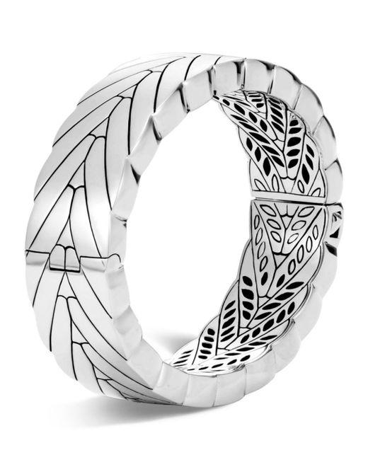 John Hardy - Metallic Sterling Silver Modern Chain Hinged Bangle - Lyst