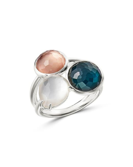 Ippolita - Metallic Sterling Silver Wonderland Mother-of-pearl Doublet Ring - Lyst