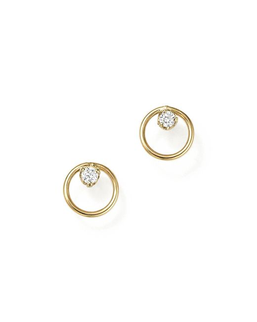 Zoe Chicco - Metallic Paris Stud Earrings - Lyst