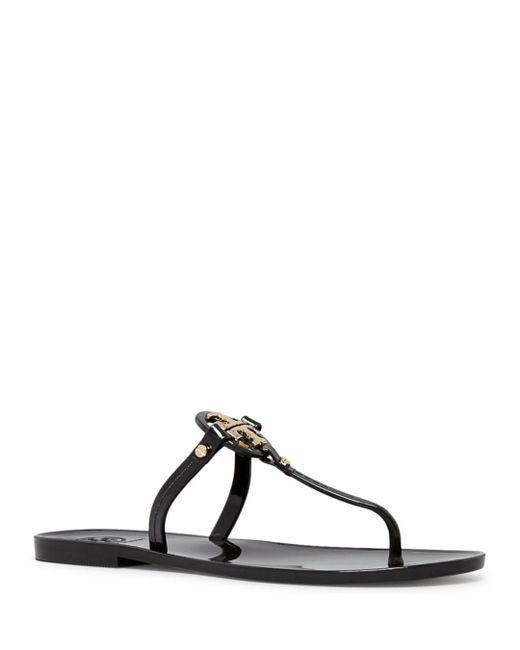 Tory Burch Black Mini Miller Jelly Thong Sandal