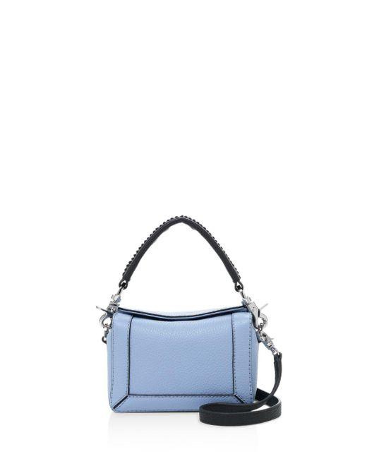 Botkier - Blue Barrow Small Leather Crossbody - Lyst