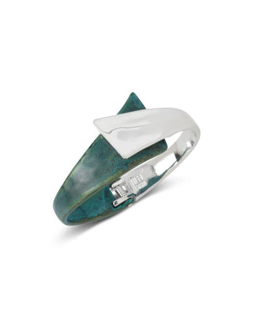 Robert Lee Morris - Green Bypass Hinge Cuff Bracelet - Lyst