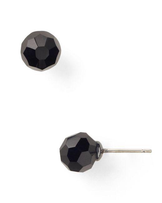 Carolee - Black Faceted Beaded Stud Earrings - Lyst