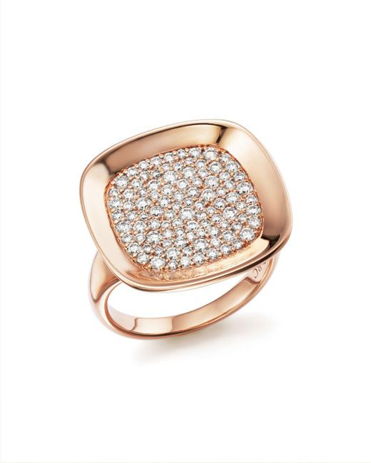 Roberto Coin - Metallic 18k Rose Gold Carnaby Street Diamond Ring - Lyst