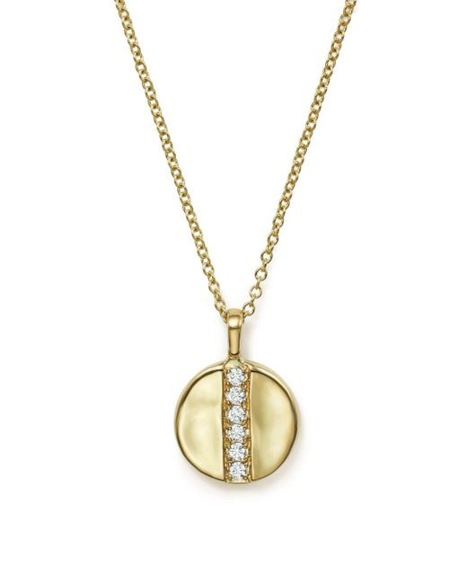 Ippolita Metallic 18k Glamazon® Stardust Mini Disc Pendant Necklace With Diamonds