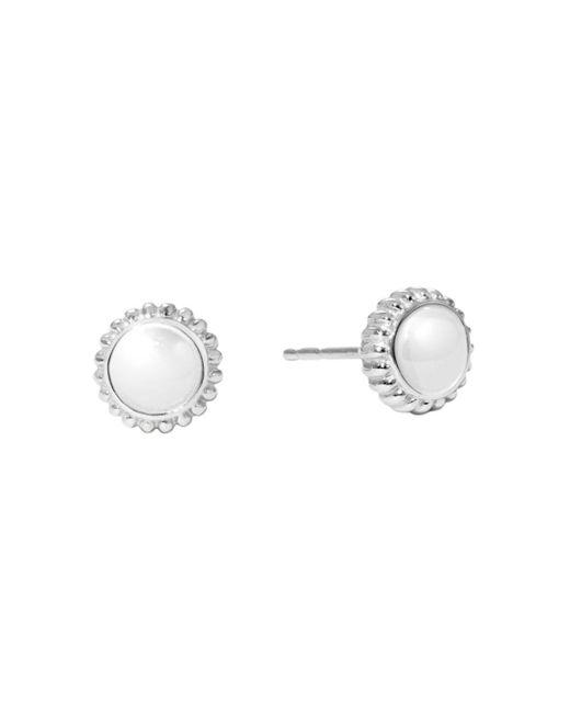 Shinola - Metallic Sterling Silver Coin Edge Stud Earrings - Lyst