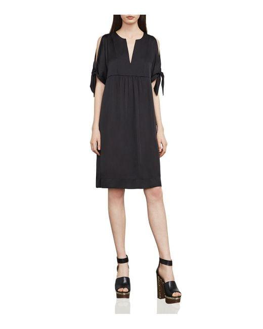 BCBGMAXAZRIA | Black Chara Slash Tie-sleeve Dress | Lyst