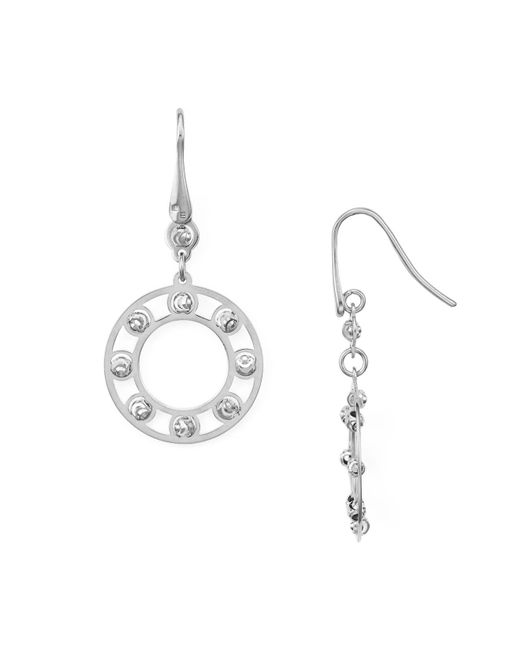 Officina Bernardi | Metallic Circle Drop Earrings | Lyst