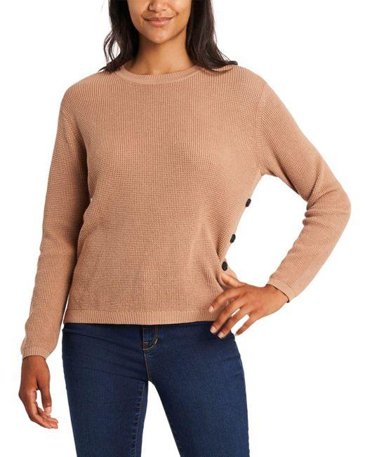 1.STATE Multicolor Long Sleeve Crewneck Sweater