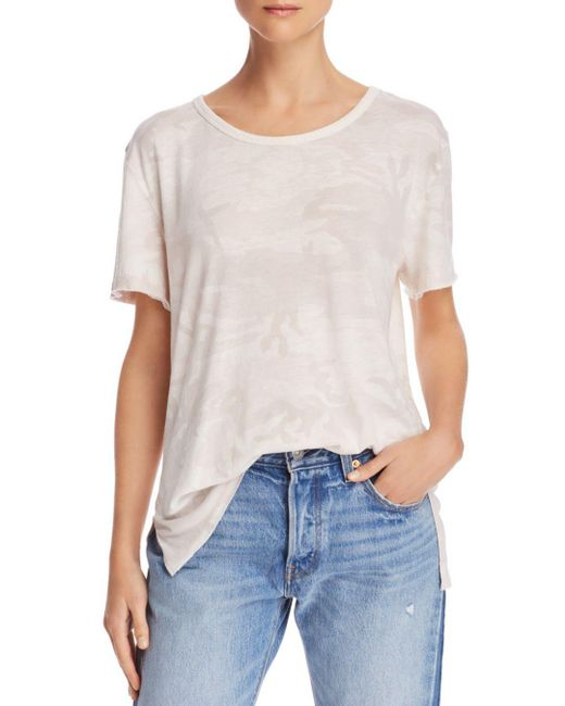 Free People - White Army Camo Tee - Lyst