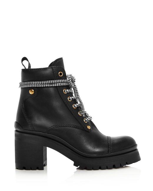 44e1f173ea411 Miu Miu Women's Never Mind Block Heel Boots in Black - Lyst