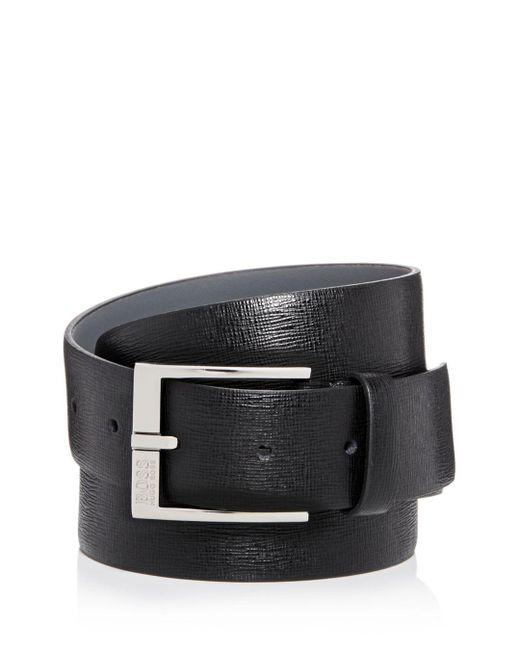 BOSS Black Men's Clo 3.0 Embossed Leather Belt for men