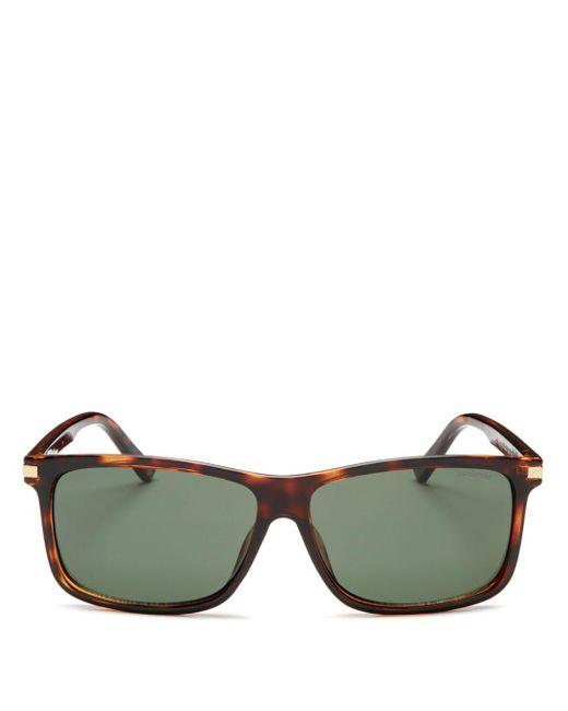 Polaroid Green Polarized Square Sunglasses for men