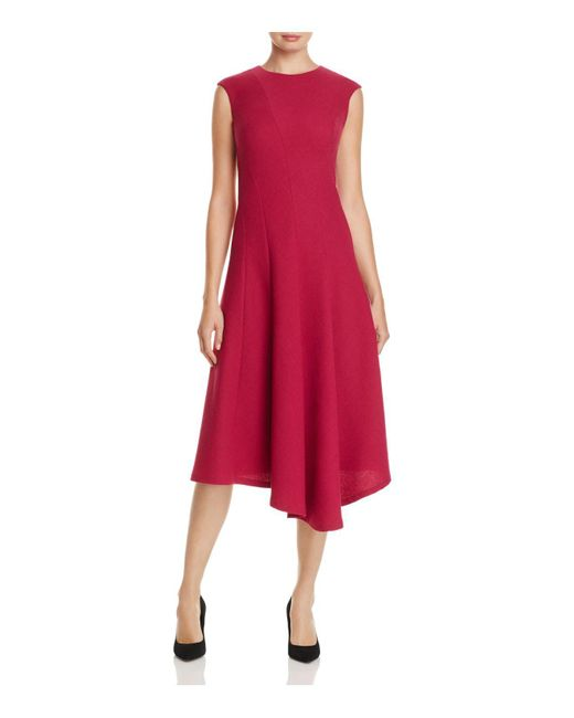 Lafayette 148 New York | Red Aveena Asymmetric Hem Dress | Lyst