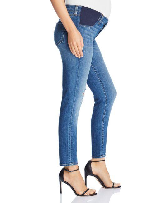 6beecc50cb80d ... J Brand - Blue Mama J Skinny Capri Maternity Jeans In Indiana - Lyst ...