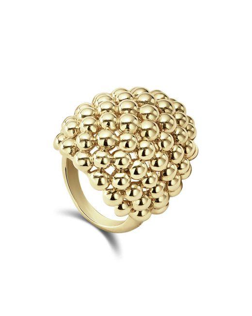 Lagos - Metallic 18k Caviar Gold Dome Statement Ring - Lyst
