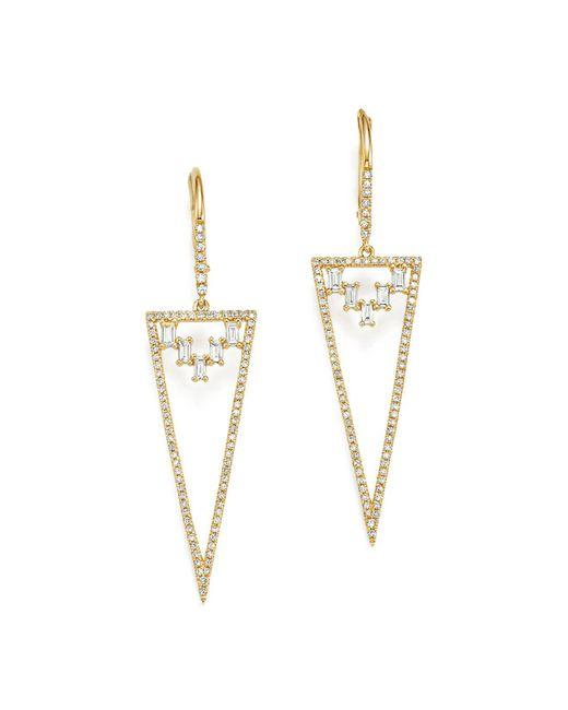 KC Designs - White 14k Yellow Gold Mosaic Diamond Statement Earrings - Lyst