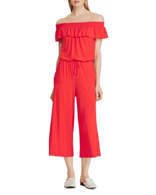 Ralph Lauren Pink Lauren Off - The - Shoulder Cropped Jumpsuit