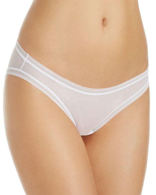 On Gossamer White Low - Rise Mesh Bikini