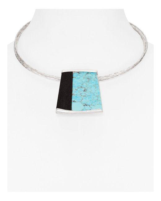 Robert Lee Morris | Blue Wire Choker Pendant Necklace | Lyst