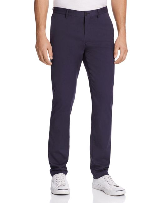 Theory Blue Zaine Neoteric Slim Fit Pants for men