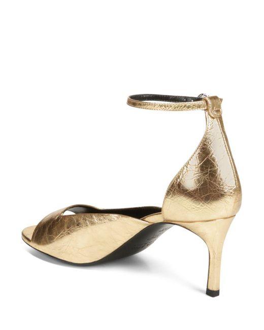ec940b56a48 Lyst - Via Spiga Women s Jennie Metallic Kitten Heel Sandals in Metallic