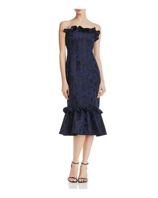 C/meo Collective - Blue Levity Strapless Dress - Lyst