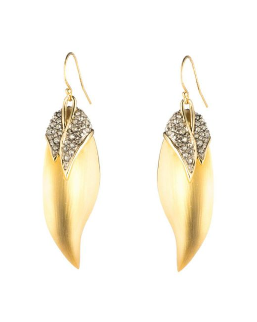 Alexis Bittar - Multicolor Crystal Capped Feather Earrings - Lyst