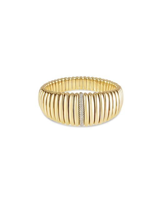 Hulchi Belluni - Metallic 18k Yellow Gold Tresore Diamond Graduated Banded Bracelet - Lyst