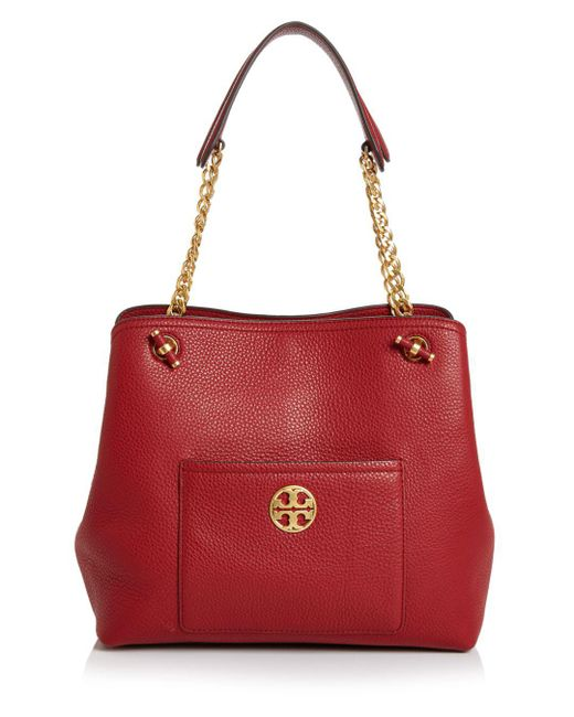 Tory Burch - Red Chelsea Small Slouchy Leather Tote - Lyst
