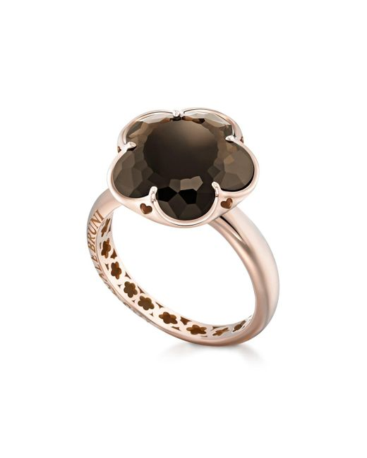 Pasquale Bruni | Multicolor 18k Rose Gold Floral Smoky Quartz Ring | Lyst