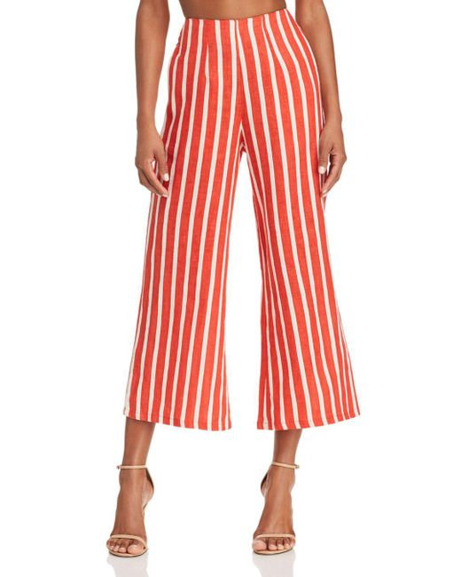Faithfull The Brand - Red Tomas Striped Culottes - Lyst