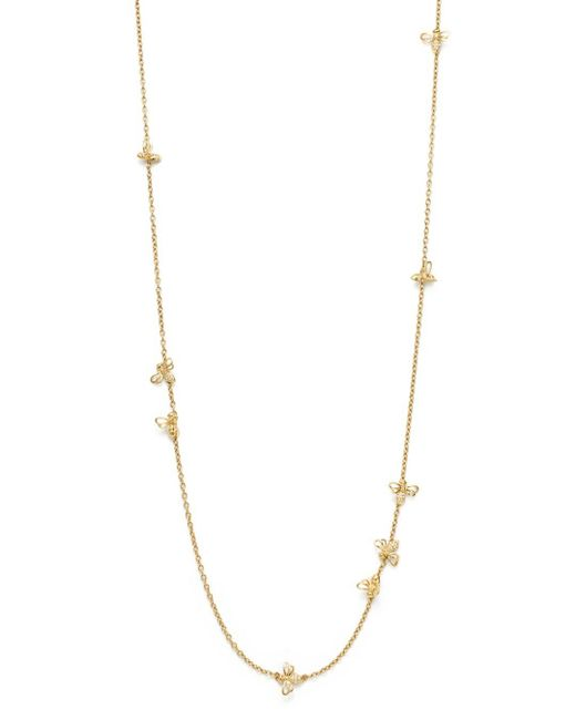 Temple St. Clair Metallic 18k Yellow Gold Bee Chain Diamond Necklace