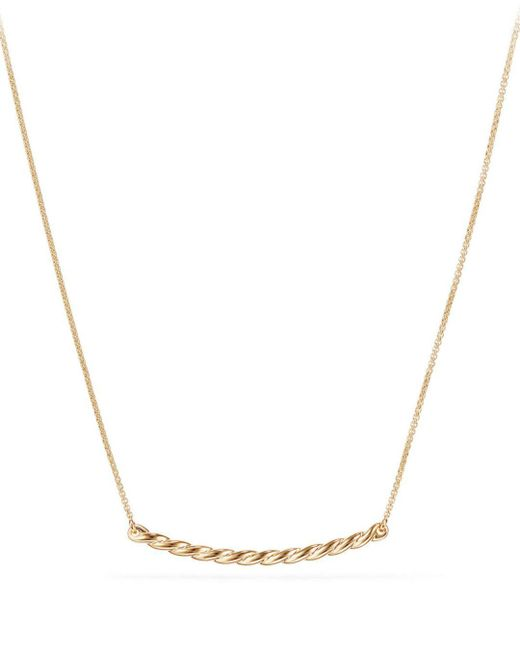 David Yurman - Metallic Paveflex Station Necklace In 18k Gold - Lyst