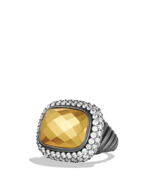 David Yurman - Metallic Waverly Ring With Gold Dome & Diamonds for Men - Lyst
