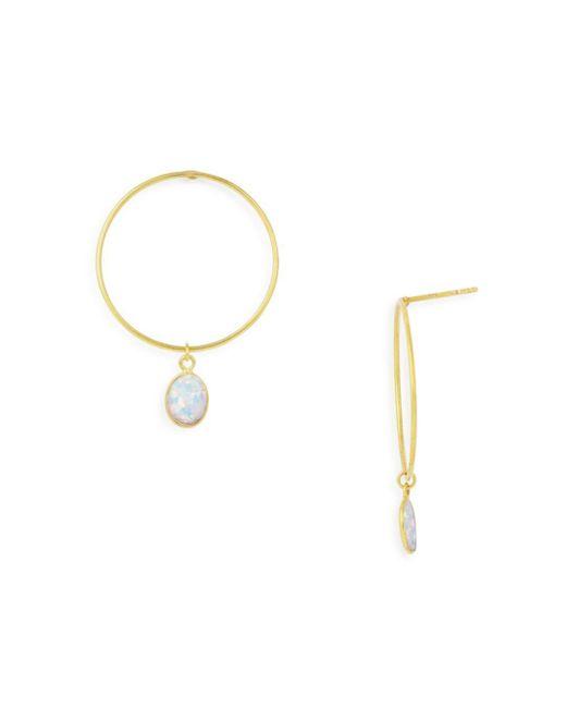 Argento Vivo - Metallic Simulated Opal Loop Drop Earrings - Lyst